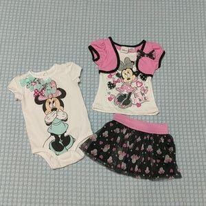Bundle of Infant Girls Disney Outfits